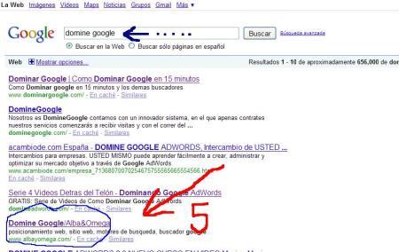 domine google.